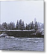 Canada Island And Spokane River Metal Print by Daniel Hagerman