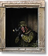 Canadian Army Soldier Conducts Military Metal Print by Stocktrek Images