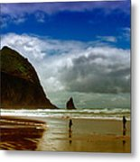 Cannon Beach At Dusk II Metal Print