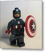 Captain America Metal Print by Harrison Matlock