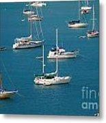 Caribbean Sailboats Metal Print