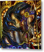 Carousel Beauty Waiting For A Rider Metal Print