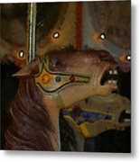 Carousel Horses Painterly Metal Print