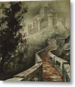 Castle In The Mist Metal Print