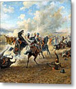 Cavlary Battle Metal Print by Victor Mazurovskii
