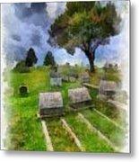 Cemetery Clouds Metal Print