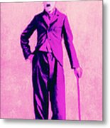 Charlie Chaplin The Tramp 20130216 Metal Print by Wingsdomain Art and Photography