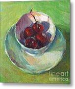 Cherries In A Cup #2 Metal Print