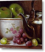 China Bowl And Teapot Metal Print by Timothy Jones