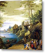 Christ And The Canaanite Woman Metal Print