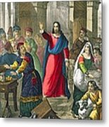 Christ Cleanses The Temple Metal Print
