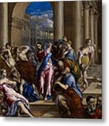 Christ Driving The Money Changers From The Temple Metal Print