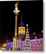 Christmas In Warsaw Metal Print by Artur Bogacki