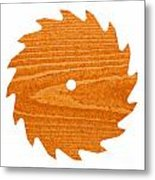 Circular Saw Blade With Pine Wood Texture Metal Print by Stephan Pietzko