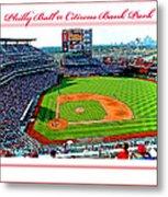 Citizens Bank Park Phillies Baseball Poster Image Metal Print