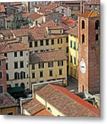 City View Of Lucca With The Clock Tower Metal Print by Kiril Stanchev