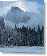 Cloaked In A Snow Storm Metal Print