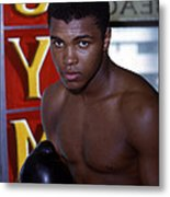 Close Up Of Muhammad Ali Metal Print by Retro Images Archive