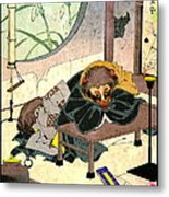 Clothes Changing Teapot 1880 Metal Print by Padre Art