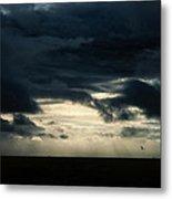 Clouds Sunlight And Seagulls Metal Print by Hakon Soreide