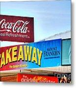 Coca-cola - Old Shop Signage Metal Print by Kaye Menner