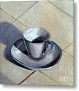 Coffee Cup Metal Print by Kostas Koutsoukanidis