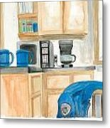 Coffee Cups On The Counter Metal Print by Jeremiah Iannacci