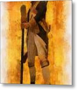 Colonial Soldier Photo Art  Metal Print by Thomas Woolworth