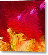 Color Shock 4 - Vibrant Digital Painting Metal Print by Sharon Cummings