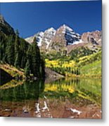 Colorado Maroon Bells Metal Print