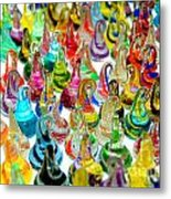 Colorful Glass Drops Metal Print
