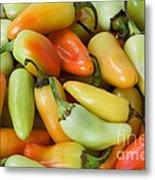 Colorful Peppers Metal Print