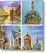 Colors Of Russia Church Of Our Savior On The Spilled Blood  Metal Print