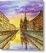 Colors Of Russia St Petersburg Cathedral I Metal Print by Irina Sztukowski