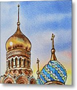 Colors Of Russia St Petersburg Cathedral Iv Metal Print by Irina Sztukowski
