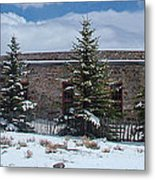 Como Roundhouse Backside Metal Print by Ken Smith