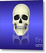 Conceptual View Of Human Skull Metal Print by Stocktrek Images