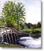 Concord Bridge Metal Print