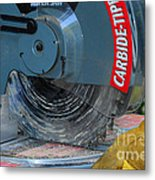 Construction The Chop Saw Metal Print by Paul Ward