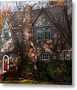 Cottage - Cranford Nj - Autumn Cottage  Metal Print