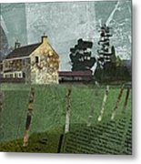 Country Farm Metal Print by Kenneth North