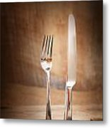 Country Place Setting. Metal Print by Mythja  Photography