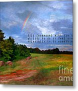 Country Rainbow Metal Print