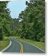 Country Road Metal Print by Victor Montgomery