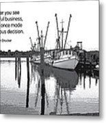 Courageous Decision Metal Print by Mike Flynn