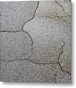 Cracked Tarmac Metal Print