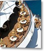 Cruise Ship Symmetry Metal Print by Amy Cicconi