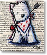 Cupid Westie Metal Print by Kim Niles