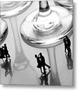 Dancing Among Glass Cups Metal Print by Paul Ge