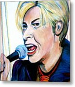David Bowie Metal Print by Debi Starr